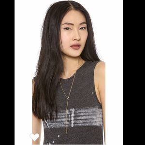 Rebecca Minkoff Gold Pave Y Necklace